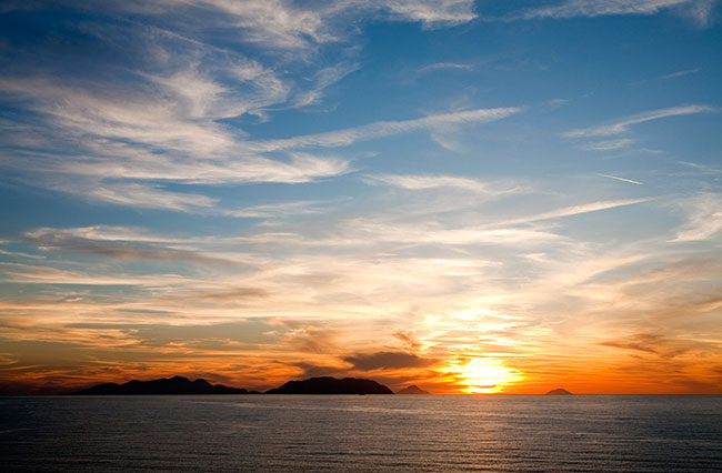 tramonto sulle isole web